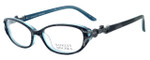 Badgley Mischka Arianna Designer Eyeglasses in Black Horn & Silver :: Rx Single Vision