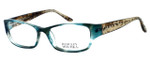 Badgley Mischka Melodie Designer Eyeglasses in Aqua Crystal :: Rx Single Vision