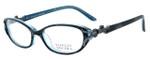 Badgley Mischka Arianna Designer Eyeglasses in Black Horn & Silver