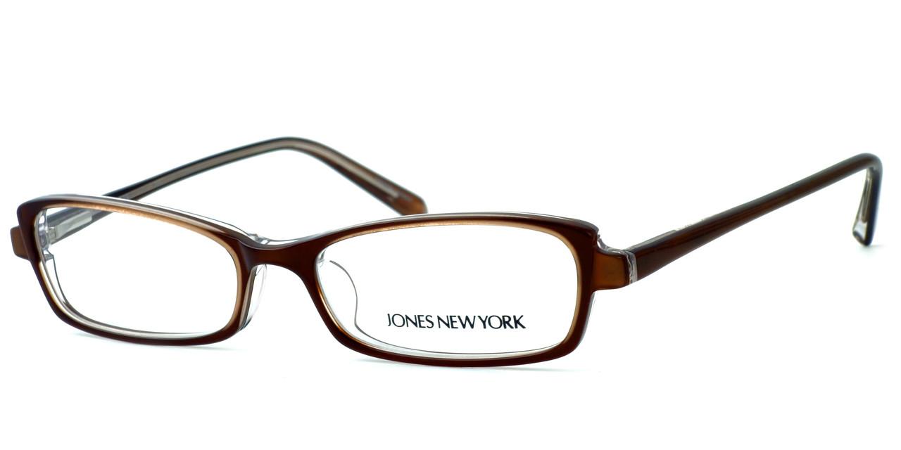 Designer Glasses Frames New York : Jones New York Designer Eyeglasses J725 Brown :: Rx Single ...