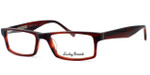 Lucky Brand Rigby Designer Eyeglasses in Red Horn :: Progressive