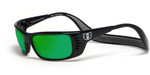 Hoven Eyewear Meal Ticket in Black & Green Chrome Mirror Polarized