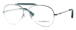 Emporio Armani Designer Eyeglasses EA1020-3060 in Silver & Green :: Custom Left & Right Lens