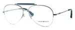 Emporio Armani Designer Eyeglasses EA1020-3060 in Silver & Green :: Rx Single Vision