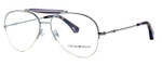 Emporio Armani Designer Reading Glasses EA1020-3010 in Silver & Purple