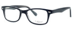 Enhance Optical Designer Eyeglasses 3926 in Black-Crystal :: Progressive