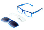 Switch and Go Switchable Eyewear 018-C6 in Crystal Blue / Crystal