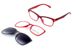 Switch and Go Switchable Eyewear 017-C1 in Crystal Red