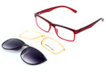Switch and Go Switchable Eyewear 018-C10 in Crystal Red