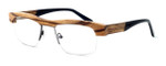 "Specs of Wood Designer Wooden Eyewear Made in the USA ""Zebra Trunk"" in Zebra Wood (Medium Brown) :: Custom Left & Right Lens"