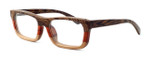 "Specs of Wood Designer Wooden Eyewear Made in the USA ""Serious III"" in Red Rosewood (Red)"