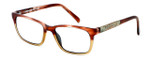 Parkman Handcrafted Eyeglasses Francesa in Cranberry Tan with Money ; Made in the USA :: Rx Single Vision