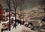Famous Artwork Theme Cleaning Cloth 'The Hunters in the Snow' by Bruegel