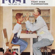 "Norman Rockwell Famous Artwork Cleaning Cloth ""At The Optometrist"""