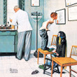 """Norman Rockwell Famous Artwork Cleaning Cloth """"Before The Shot"""""""