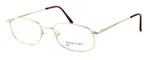 Calabria MetalFlex Designer Eyeglasses II in Gold :: Custom Left & Right Lens