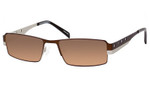 Dale Earnhardt, Jr. 6707 Designer Sunglasses in Brown-Silver