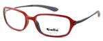 Bollé Neuilly Designer Eyeglasses in Opaque Red w/ Dark Gun :: Rx Single Vision