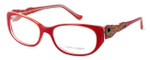Judith Leiber Womens Designer Reading Glasses JL1639-06 in Red :: Rx Bi-Focal