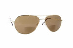 Calabria Hart Metal Aviator Bi-Focal Reading Sunglasses