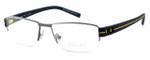 OGA Designer Eyeglasses 7923O-GN060 in Gunmetal & Yellow :: Progressive