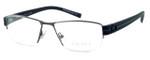 OGA Designer Reading Glasses 7922O-GN052 in Gunmetal & Green