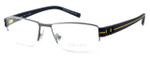 OGA Designer Reading Glasses 7923O-GN060 in Gunmetal & Yellow
