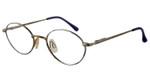 Swank Lelia 827 Reading Glasses in Antique Silver & Blue