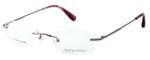 Totally Rimless Designer Eyeglasses TR130-BRY in Berry :: Custom Left & Right Lens