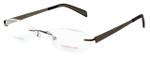 Totally Rimless Designer Eyeglasses TR163-BRN in Brown :: Rx Single Vision