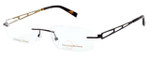 Totally Rimless Designer Eyeglasses NR149-CHC in Chocolate :: Progressive