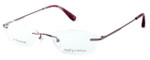 Totally Rimless Designer Eyeglasses TR130-BRY in Berry :: Progressive