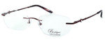 Totally Rimless Designer Eyeglasses TR164-DBG in Deep Burgundy :: Progressive