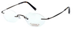 Totally Rimless Designer Reading Glasses TR145-SGE in Satin Brown