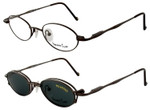 Magnetic Clip-On 223 Polarized Reading Sunglasses