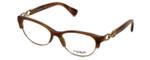 Coach Womens Designer Eyeglasses 'Kitty' HC5063 in Brown Horn (5272) 51mm :: Rx Single Vision