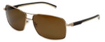 TAG Heuer Designer Polarized Sunglasses TH0882-214 in Gold & Brown