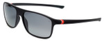 TAG Heuer Designer Polarized Sunglasses TH6041-109 in Matte Black & Grey