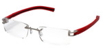 Tag Heuer Designer Reading Glasses TH7643-005 in Silver 54mm