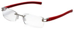 Tag Heuer Designer Reading Glasses TH7645-005 in Silver 56mm