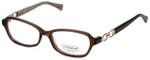 Coach Womens Designer Eyeglasses 'Vanessa' HC6017 in Brown (5059) 52mm :: Rx Bi-Focal
