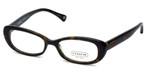 Coach Womens Designer Eyeglasses 'Cory' HC6035 in Tortoise (5001) 50mm :: Rx Bi-Focal
