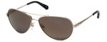 Kenneth Cole Designer Sunglasses KC7029-32G in Gold Frame with Gold Mirror Lens