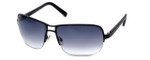 Kenneth Cole Designer Sunglasses KC7064-01B in Black Frame with Grey Grandient Lens