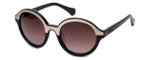Kenneth Cole Designer Sunglasses KC7105-33F in Black-Gold Frame with Amber Gradient Lens