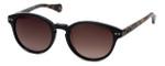Kenneth Cole Designer Sunglasses KC7115-01F in Black-Tort Frame with Amber Gradient Lens