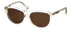 Kenneth Cole Designer Sunglasses KC7134-27E in Clear-Peach Frame with Amber Lens
