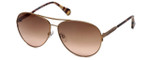 Kenneth Cole Designer Sunglasses KC7158-28F in Gold Frame with Brown Gradient Lens