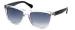 Kenneth Cole Designer Sunglasses KC7159-27B in Clear-Black Frame with Grey Gradient Lens