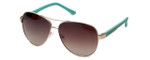 Guess  Designer Sunglasses GU7325 in Gold-Teal Frame with Amber Gradient Lens